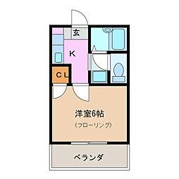 ステップ1[4階]の間取り
