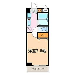 トリコロールハウス加藤[5階]の間取り