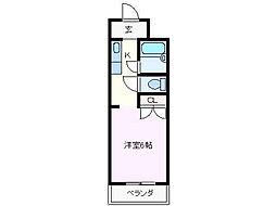 ジョイフル江島[208号室]の間取り