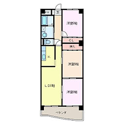 三重県鈴鹿市竹野1丁目の賃貸マンションの間取り