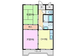 三重県鈴鹿市白子本町の賃貸アパートの間取り
