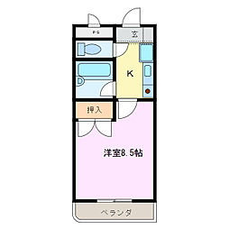 ビディエスTAMAGAKIマンション[1階]の間取り