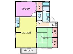 三重県鈴鹿市寺家町の賃貸アパートの間取り