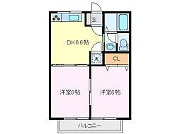 サンハイツ寺田[2階]の間取り