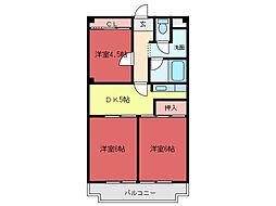 川本マンション[2階]の間取り