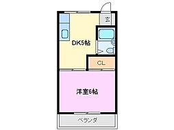 三重県鈴鹿市庄野羽山3丁目の賃貸マンションの間取り