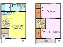 [テラスハウス] 三重県鈴鹿市野町東1丁目 の賃貸【/】の間取り