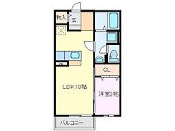 ハイツマリノ[2階]の間取り