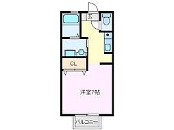 プリシェール平田B棟[106号室]の間取り