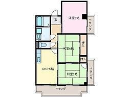 アバンハウスI A棟[2階]の間取り