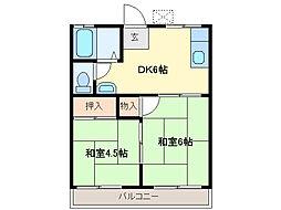 三重県鈴鹿市東磯山3丁目の賃貸マンションの間取り