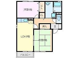クレールコートD棟[1階]の間取り