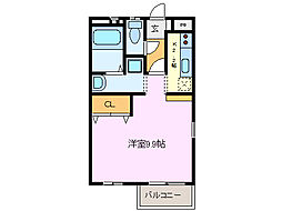 三重県鈴鹿市桜島町3丁目の賃貸アパートの間取り
