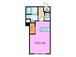 YCマンション白子[1階]の間取り