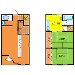 [一戸建] 三重県亀山市関町木崎 の賃貸【/】の間取り