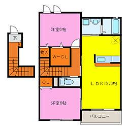 クレシア A棟[1階]の間取り