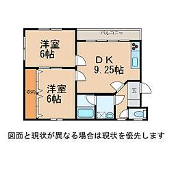 薗村マンション[3階]の間取り
