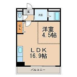 和歌山県和歌山市田尻の賃貸マンションの間取り