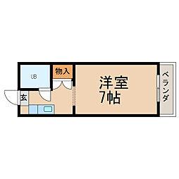 レジデンス小松原[1階]の間取り