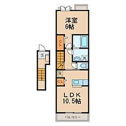 シャノワールII[2階]の間取り