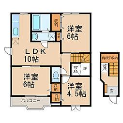 コモド・カーサたなかI・II[2階]の間取り