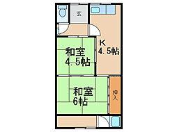 和歌山県和歌山市毛見の賃貸アパートの間取り