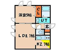 北海道函館市旭町の賃貸マンションの間取り