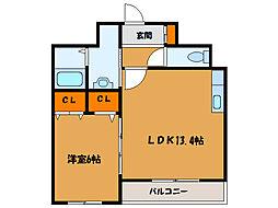 北海道函館市宮前町の賃貸マンションの間取り