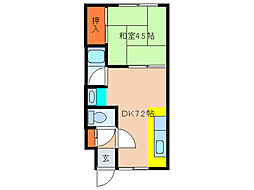 北海道函館市本通3丁目の賃貸アパートの間取り