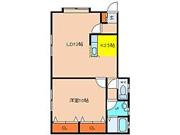 北海道函館市昭和2丁目の賃貸アパートの間取り
