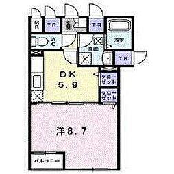 北海道函館市弁天町の賃貸アパートの間取り
