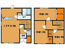 北海道函館市日吉町2丁目の賃貸アパートの間取り