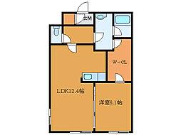北海道函館市山の手2丁目の賃貸マンションの間取り
