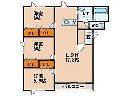 北海道函館市戸倉町の賃貸マンションの間取り