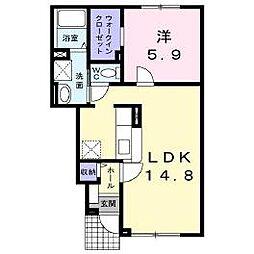 北海道函館市八幡町の賃貸アパートの間取り