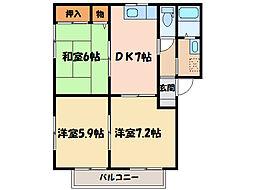 シャーメゾン佐藤 C・D棟[2階]の間取り