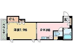 アーバンヴィラ松神子[4階]の間取り