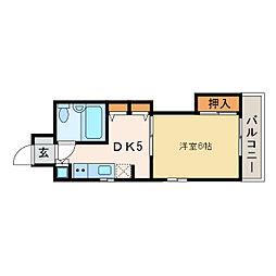 ダイアパレス新居浜[4階]の間取り