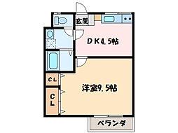 ロイヤルハイツ新田[303号室]の間取り