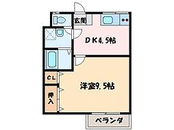 ロイヤルハイツ新田[2階]の間取り
