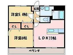 サンパティーク・1[2階]の間取り