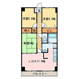 スカール新居浜[4階]の間取り