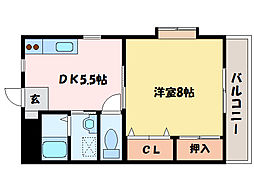 リバーサイド庄内VI[4階]の間取り