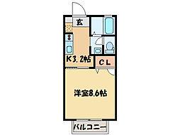 シャーメゾン八雲[1階]の間取り
