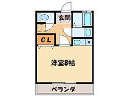 栄光マンション[2階]の間取り