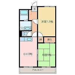 ファミーユ郷[143号室]の間取り