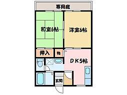 メゾントレビXII[1階]の間取り