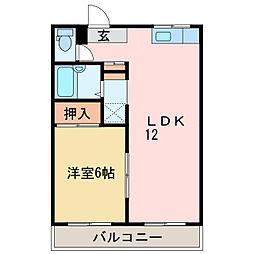 グラッドハウス1・2[2階]の間取り