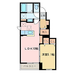 国領1丁目アパート C[C105号室]の間取り
