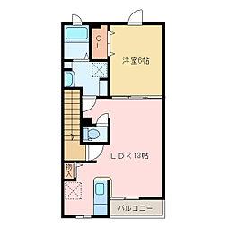 国領1丁目アパート C[C202号室]の間取り